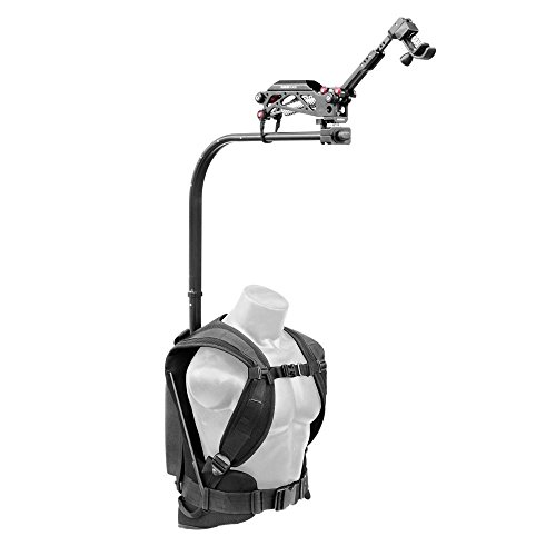 FLYCAM Flowline Professional Body Vest Support with Placid 2-Axis Stabilizing Arm for Camera & 3-Axis Gimbals | Flowline Vest Payload: 3-7.5kg/6.6-16.5lb | Placid Arm Payload: 5-20kg (FLCM-FLN-PA)