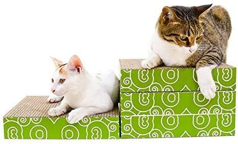 Kat kladblok, CP-095 4 in 1 dubbelzijdig vouwen Cat Scratch Board Golfkarton Cat Malen Claw Toy, kattenkrabziekte mat aijia