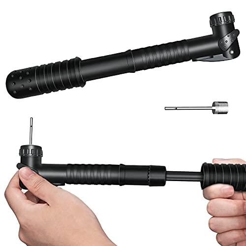 Senston Tragbare Pumpe für Bälle, Sportpumpe mit Nadel und Düse, Universelle Inflatorpumpe für Basketball, Fußball, Volleyball