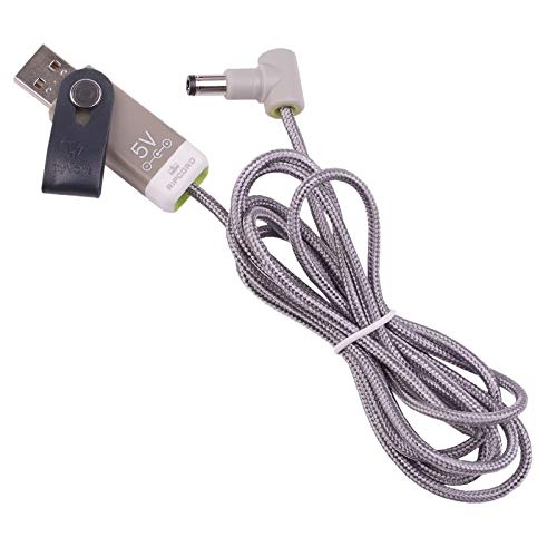MyVolts Ripcord-USB-Ladekabel mit 5V DC Ausgangsstecker kompatibel mit Mad Catz Wireless for Xbox 360 Lenkrad