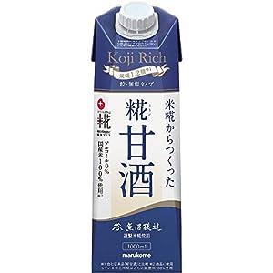 マルコメ プラス糀 米糀からつくった糀甘酒LL 糀リッチ粒 1000ml ×6本