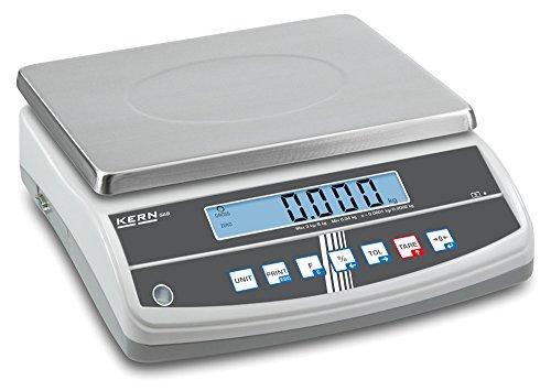 Kompakte Zweibereichs-Tischwaage und Eichzulassung [Kern GAB30K5DNM] Präzision bis 5 g / 10 g, Wägebereich max. 15 kg / 30 kg