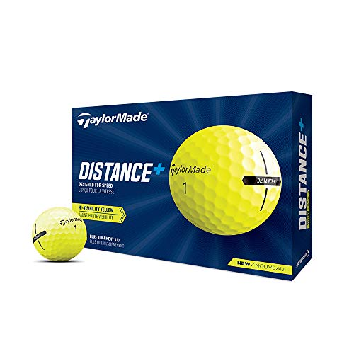 2021 TaylorMade Yellow Distance+ Golf Balls