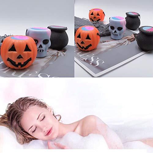 Pompoen/schedel/heks pot badschuim bal, zeezout etherische olie is rijk aan schuim, zeer geschikt voor spa of badschuim dames of kinderen douche geschenken,Style pumpkin