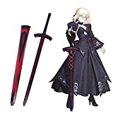 Yongli Sword Fate Stay Night Fate Grand Order Saber Japanese Anime Game Cosplay Replica Steel Sword Excalibur Sword in The Stone (Black)