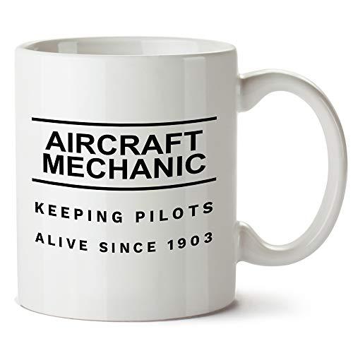 Kaffeetasse, Flugzeug-Mechaniker, Geschenk für private und professionelle Mechaniker