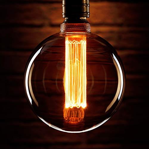 Auraglow Mysa LED-Glühbirne - Vintage Retro Rustikal Edison Style Dekorativ Energieeffizient Filament E27 Schraube G125 Kugelform