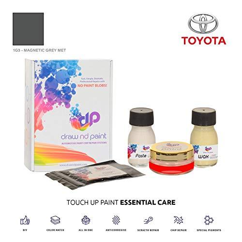 DrawndPaint for/Toyota Yaris/Magnetic Grey Met - 1G3 / Sistema di Vernice da RITOCCO - Corrispondenza ESATTA/Essential Care