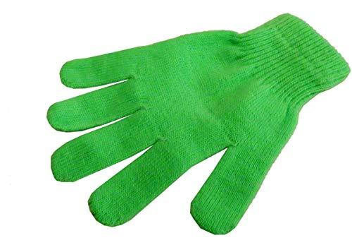 Sonia Originelli Strickhandschuhe Fingerhandschuhe Uni Neon knallig Unisex Farbe Grün