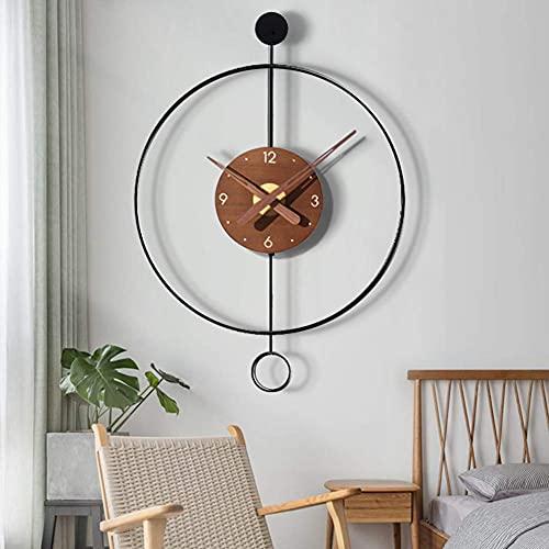 WSDDNXM Reloj de Pared con Estilo Moderno y Sencillo, silencioso, sin tictac, Funciona con Pilas