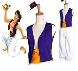 thematys Ensemble Costume Aladdin 3 pièces pour Homme - Chapeau, Gilet et Pantalon Parfait pour Le Carnaval et Le Cosplay -...
