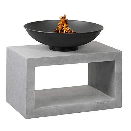 OUTLIV. Feuerschale auf Säule 64x,36x51,80cm Clayfibre