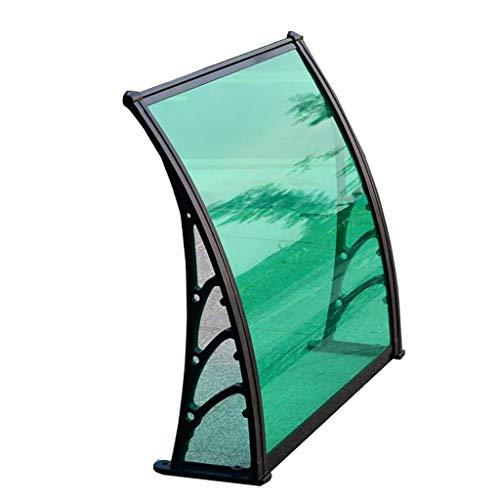 QYQPB Auvent De Porte Opy Couverture Extérieure,Porte Fenêtre Jardin Canopy Patio,Abri De Pluie Auvent De Porche,Y Compris Le Support en Plastique en Acier, PC Solid Board (Size : 80 * 80cm)