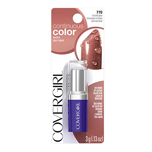 COVERGIRL Continuous Color Lipstick Bronzed Glow 770, .13 oz (packaging may vary)