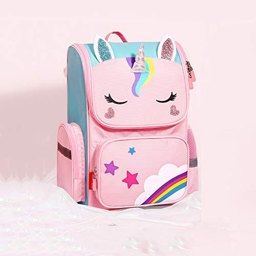 zhangmeiren Lightweight Backpack Schoolbag Students 6-12 Years Old Boy Child Care Burden Ridge Backpack, 3D Three-dimensional, Integrated And Convenient, Ultra-light, High-capacity