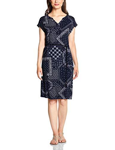 Cecil Damen 142464 Kleid, deep Blue, Large (Herstellergröße:L)
