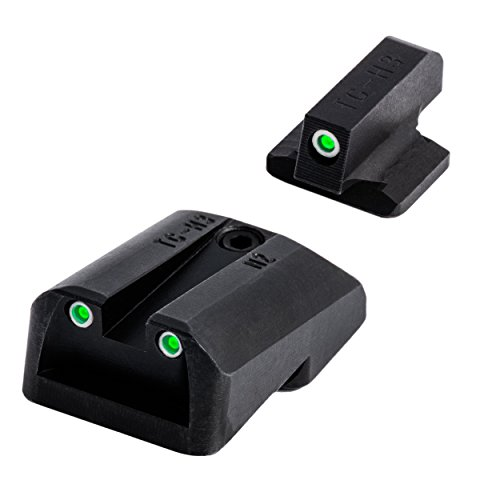 Tritium Handgun Glow-in-the-Dark Night Sights for 1911 Pistols, 260 Front / 500 Rear