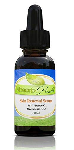 Vitamina C Serum 18% con ácido hialurónico | 72% 95% Organic Natural | para Mildy Piel Sensible | .5oz 1oz o oz | Rostro y Cuello reductor de arrugas