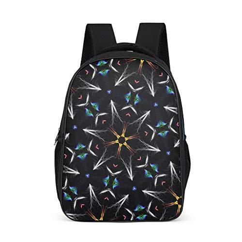 Fineiwillgo Diagrama de estructura floral abstracto mochila patrón bolsa de libros práctica mochila bicicleta para mujer Uni Bright Gray One Size