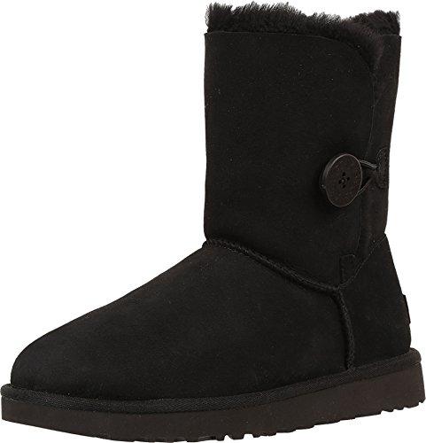 UGG Female Bailey Button II Classic Boot, Black, 9 (UK)
