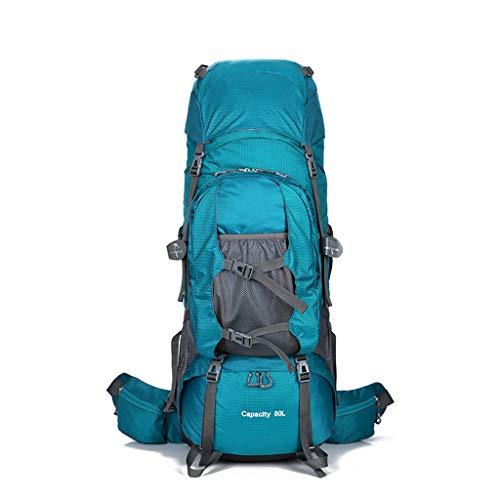 JM- Sac à Dos de randonnée , avec Housse de Pluie Sport en Plein air Sac à Dos Voyage Sac étanche pour Escalade Camping randonnée en Montagne (Couleur : Lake Blue)