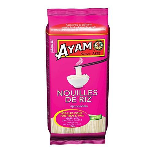 AYAM Nouilles de Riz | 100% Naturelles | Sans Gluten | Faciles et Rapides à Cuisiner Chez Soi |...