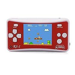 """Schermo a cristalli liquidi da 2,5"""". Regalo ideale per i bambini. 162 in 1. 162 giochi inclusi, tra cui:Angry Bird 3, Contra 1 e Super Mario. Alimentata da 3 batterie AAA (non incluse), per fare in modo che i tuoi bambini possano giocare ovunque. Con..."""