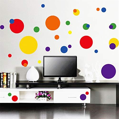 Cirkel cirkel woonkamer slaapkamer achtergrond wandpasta PVC transparant folie bewegende 50 cm x 70 cm