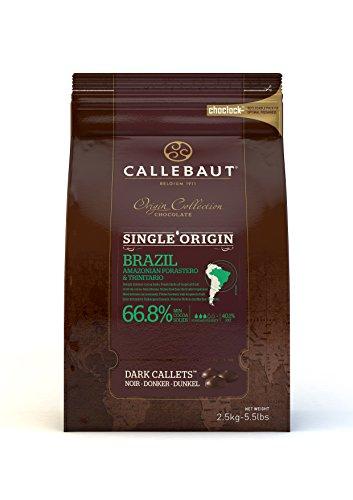Callebaut Colección Origen - Brasil 66,8% pepitas de Chocolate Negro (callets) 2.5 kg