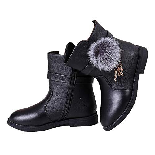 Botas de Princesa para niñas 2020 otoño e Invierno Nuevas niñas Coreanas de Cuero de Moda más Cremallera Lateral de algodón Colgante Lindo Botas Calientes Zapatos Deportivos para niños