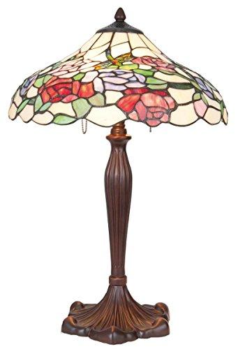 Lumilamp 5LL-5766 tafellamp tafellamp Art Deco Tiffany stijl kleurrijk glas ca. 40 cm diameter.