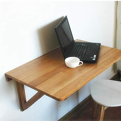 Home Beistelltische Wandklappbarer Computertisch Schreibtisch Esstisch Einfacher Esstisch Schreibtisch Kreatives Bücherregal, BOSS LV, Natürliche Farbe, 80 * 50 cm