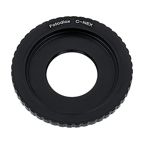Fotodiox Lens Mount Adapter Compatible with C-Mount CCTV/Cine Lenses on Select Sony E-Mount Cameras