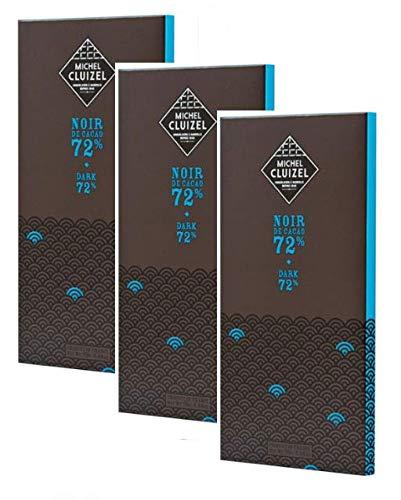 3 x 70 Gram - Michel Cluizel Noir de Cacao 72% Bitterschokolade