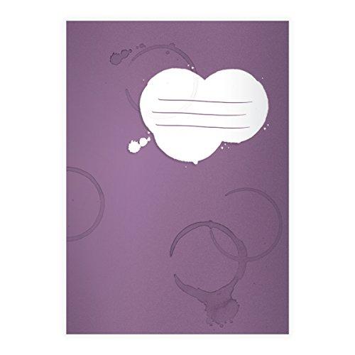 Kartenkaufrausch 8 Coole Flecken DIN A4 Grundschul Hefte mit Kaffee Tassen Rändern auf lila Kontrastlineatur 2