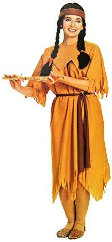 Nick and Ben Indianerin Damen-Kostüm 3-TLG. Ur-Einwohner-Verkleidung Häuptling Apache Frau Wilder Westen Erwachsene Sexy Fasching Karneval Halloween