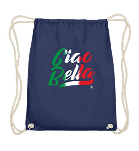 EBENBLATT Ciao Bella Lied Song Italien Italiener Pizzabäcker Geschenk - Baumwoll Gymsac