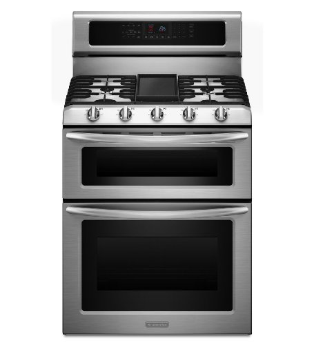 KitchenAid Architect Series II KDRS505XSS 30 Freestanding Dual-Fuel Double Oven Range, Self Clean