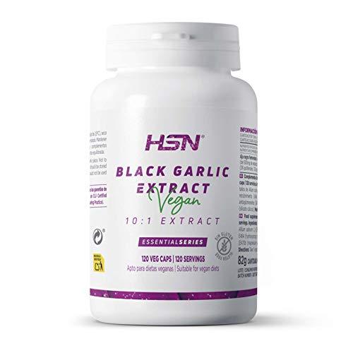 Extracto de Ajo Negro de HSN   500mg   Suministro 4 Meses   Alta Estandarización 3% en Polifenoles Ratio 10:1   Vegano, Sin Lactosa, Sin Gluten   120 Cápsulas Vegetales