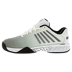 K-Swiss Men's Hypercourt Express 2 Tennis Shoe (White/Highrise/Black, 7)