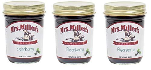 Mrs Miller's Homemade Elderberry Jelly 9 oz. (3 Jars)