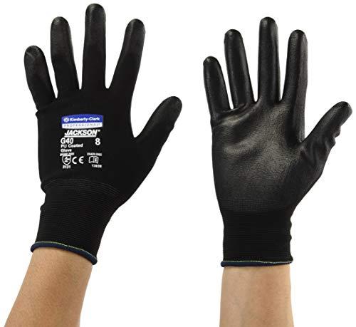 Kimberly Clark 13838 Jackson Safety G40 Polyurethanbeschichtete Handschuhe, Handspezifische Paare, Schwarz (60-er pack)