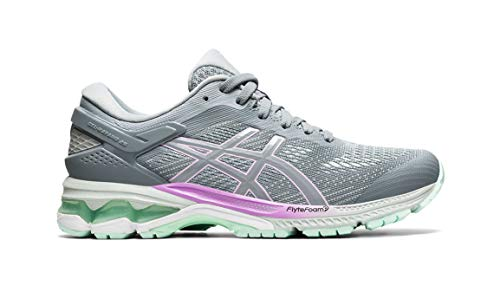 ASICS Women's Gel-Kayano 26 Running Shoe - Color: Sheet Rock/Lilac/Mint (Regular Width) - Size: 8