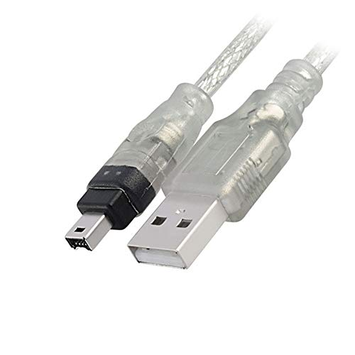 P95 150cm USB 2.0 auf IEEE 1394 4 Pol. Stecker Firewire Sync Kabel Adapter, Transfers von Daten mit Raten bis zu 480Mbit/s, USB 2.0 Stecker auf 4-poliger IEEE 1394 Stecker