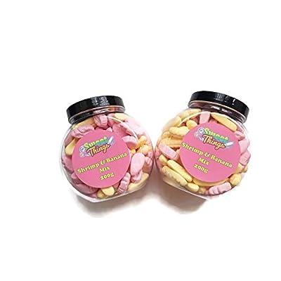 shrimps & banana mix retro sweets gift jar 2 jar bundle Shrimps & Banana Mix Retro Sweets Gift jar 2 Jar Bundle 41QlIf3 ddL