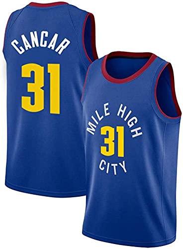 ZMIN Baloncesto para Hombre NBA Jersey, Nuggets de Denver # 31 Cancar Baloncesto Uniforme de Baloncesto Ocasivo Chaleco Deportivo Camiseta sin Mangas,Azul,XL 180~185cm