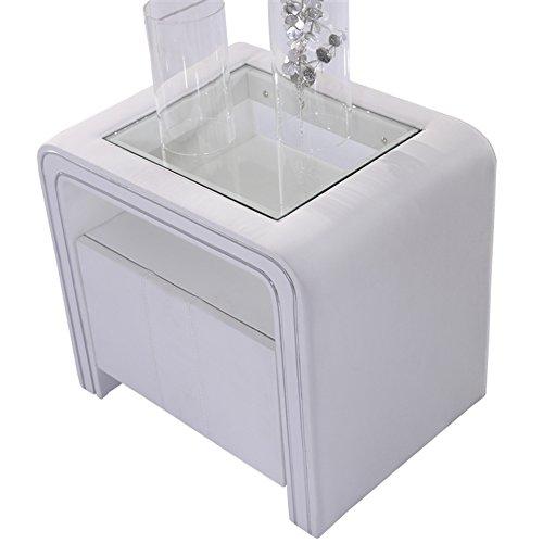Table de Nuit Chevet Design S85 Blanc