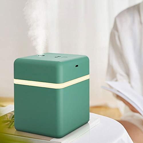 Atomización humidificador de Vapor frío 600 ml de inducción automática pulverizador purificador de Aire, Durable y portátil (Color : Green)