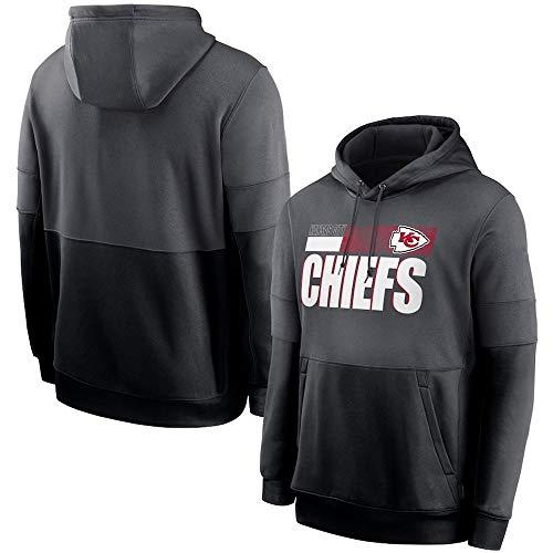 NFL Kansas City Chiefs Hoodie - Fußball Sweatshirt Pullover, Lockere, Bequeme Männer Langarm Sportbekleidung,S(160~165cm)