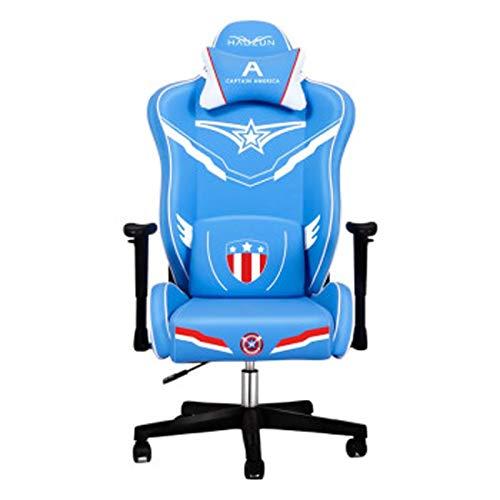 Silla de ordenador para videojuegos, para almuerzo, descanso, silla de oficina, café, profesional, juego deportivo, color azul
